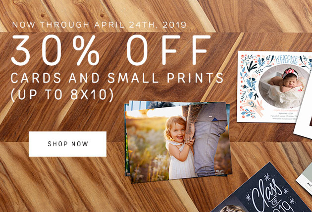 30% Off Small Prints & Cards - 4.19