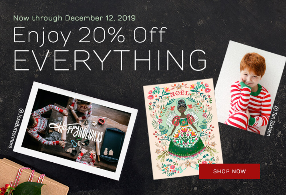 20% Off Everything - 12.19