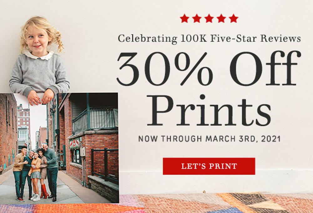 30% Off Photo Prints - 3.21
