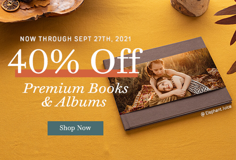 40% Off Books Albums - 9.21