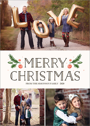front - Rustic Christmas Cards