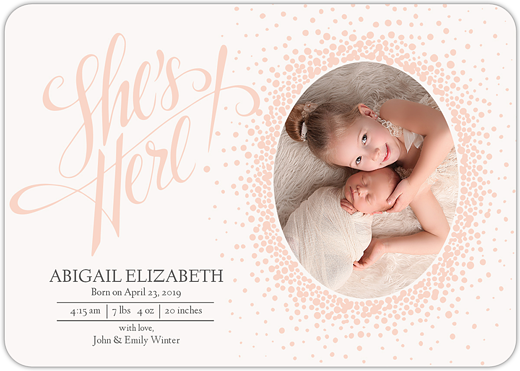 Dearest Declaration Birth Announcement Cards By Mpix - Electronic birth announcement template