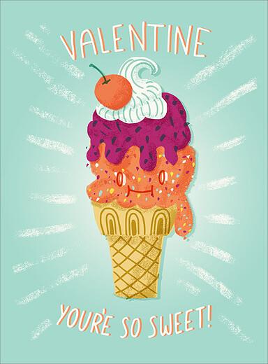 Ice Cream Cone Valentine S Day Cards By Mpix