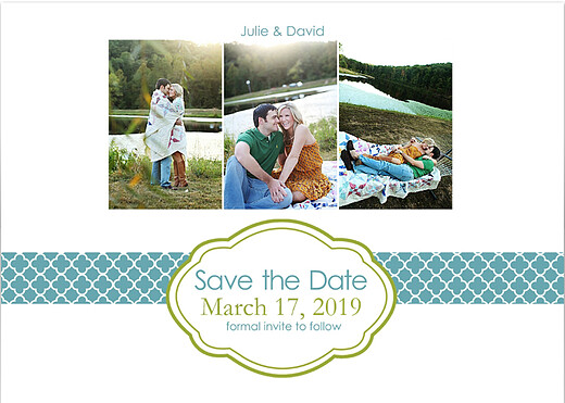 Classic save date save the date cards by mpix front colourmoves