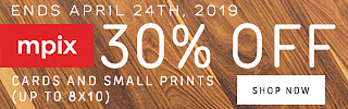 30% Off Small Prints/Cards - 4.19