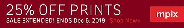 25% Off Prints - Ext. 12.19