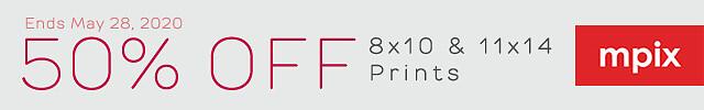 50% Off 8x10 & 11x14 Prints - 5.20