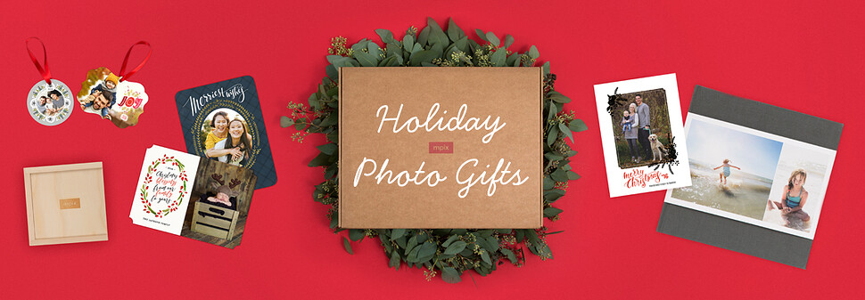 Christmas photo gifts personalized holiday photo gift ideas from celebrate the season with personalized photo gifts from mpix negle Choice Image
