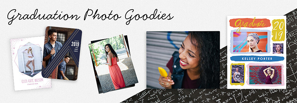 Celebrate your senior's big accomplishment with graduation photo goodies.