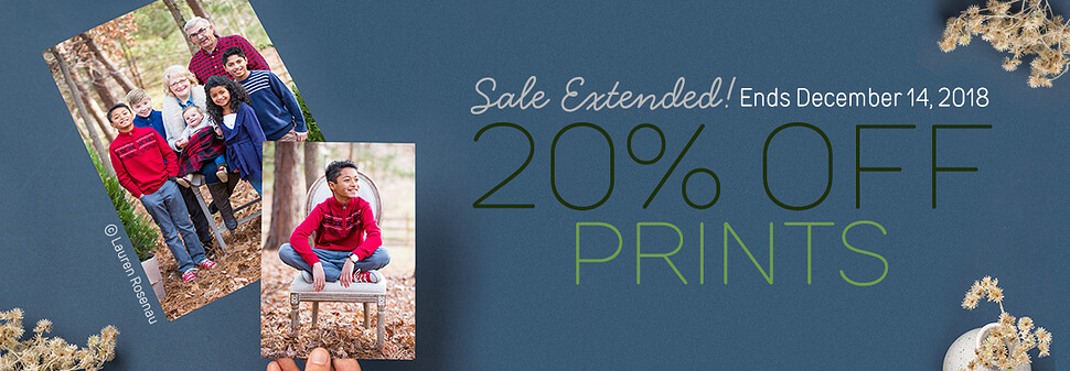 20% Off Prints Extension - 12/18