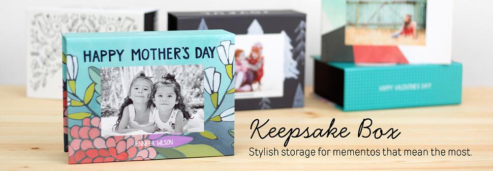 keepsake photo box personalized keepsake box