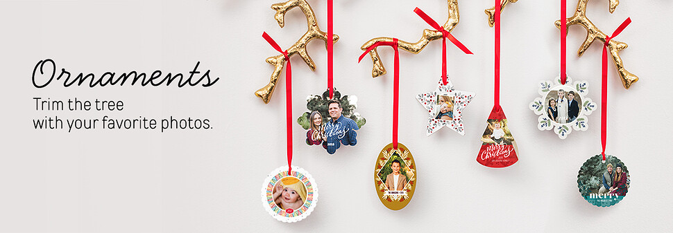 personalized christmas ornaments photo ornaments mpix - Metal Christmas Ornaments